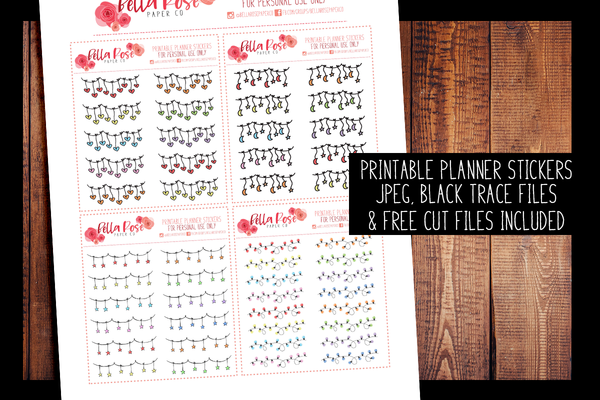 Decorative Dangles Planner Stickers | PRINTABLE PLANNER STICKERS
