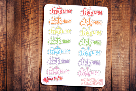 Date Night Doodle Hand Drawn Planner Stickers