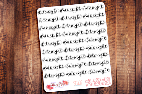 Date Night Planner Stickers SC009