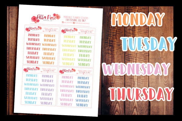 Date Cover Planner Stickers | PRINTABLE PLANNER STICKERS
