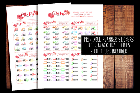 Decorative Icons | PRINTABLE PLANNER STICKERS