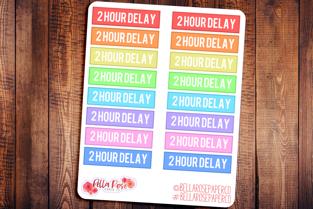 2 Hour Delay School Planner Stickers