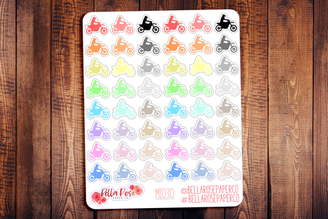 Dirtbike Mini Icon Planner Stickers MI020