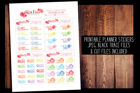 Dog Care Planner Stickers | PRINTABLE PLANNER STICKERS
