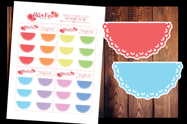Doily Halfbox Planner Stickers | PRINTABLE PLANNER STICKERS