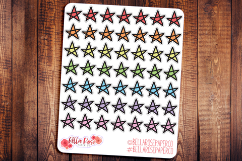 Star Icon Doodle Hand Drawn Planner Stickers