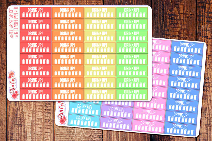 Hydrate/Water Tracking Planner Stickers B005