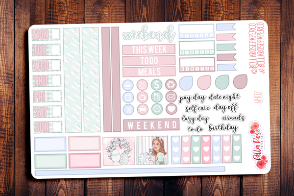 Easter at Home Hobonichi Weeks Sticker Kit W404