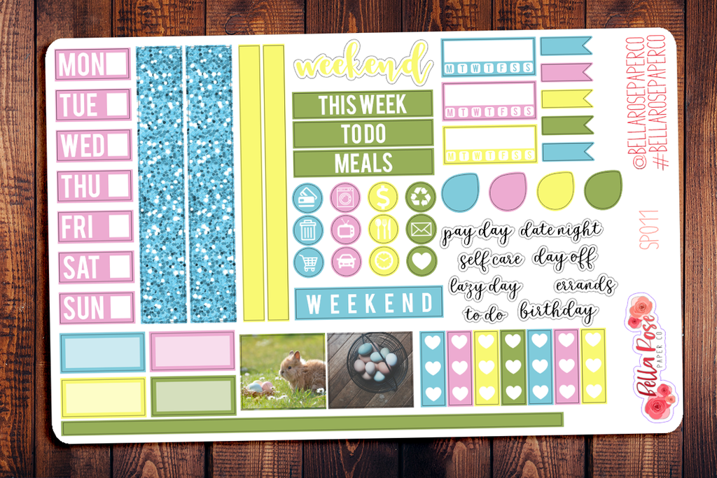 Easter Photography Hobonichi Weeks Sticker Kit SP011