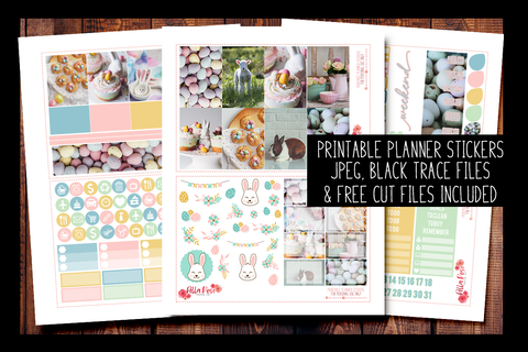 Easter Day Photo Happy Planner Kit | PRINTABLE PLANNER STICKERS