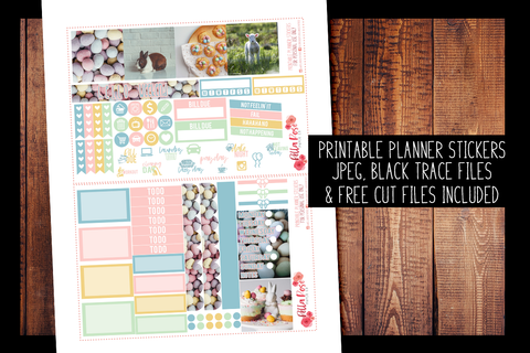 Easter Photo Mini Happy Planner Kit | PRINTABLE PLANNER STICKERS