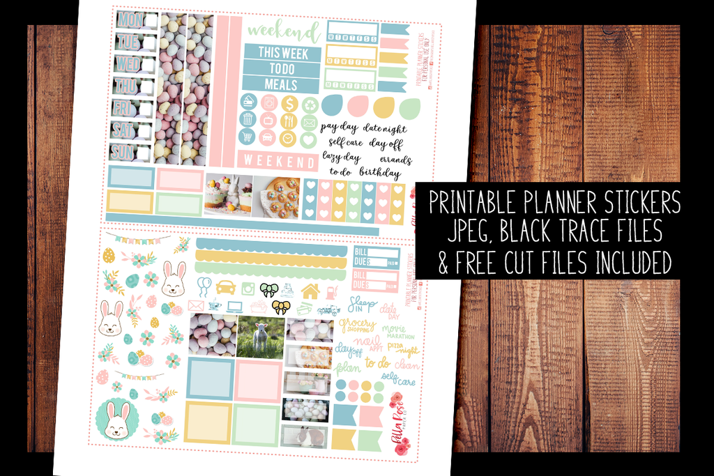 Easter Day Photo Hobonichi Weeks Kit | PRINTABLE PLANNER STICKERS