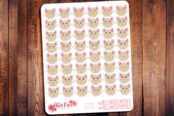 Cat Emoti Character Planner Stickers E010