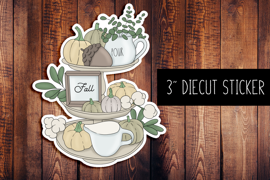 Fall Decor Diecut Sticker