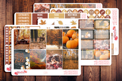 Autumn Photography Planner Sticker Kit F204