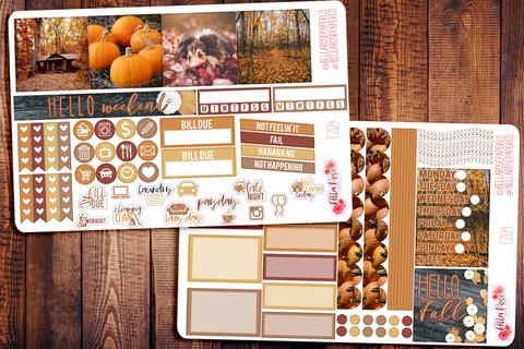 Autumn Photography Mini Happy Planner Sticker Kit F204