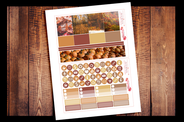 Autumn Photography Planner Kit | PRINTABLE PLANNER STICKERS