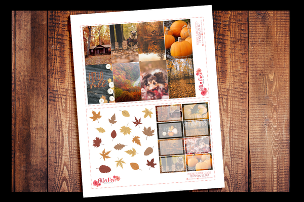 Autumn Photography Happy Planner Kit | PRINTABLE PLANNER STICKERS