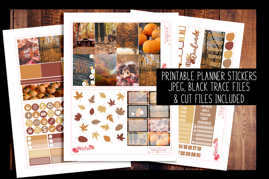 picture about Happy Planner Stickers Printable named Autumn Images Content Planner Package PRINTABLE PLANNER STICKERS