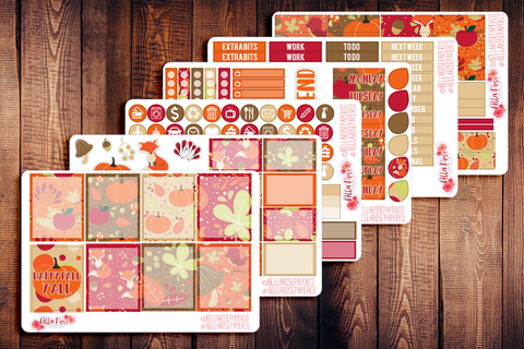 Happy Fall Y'all Planner Sticker Kit F010