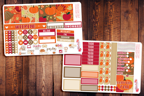 Happy Fall Y'all Mini Happy Planner Sticker Kit F010