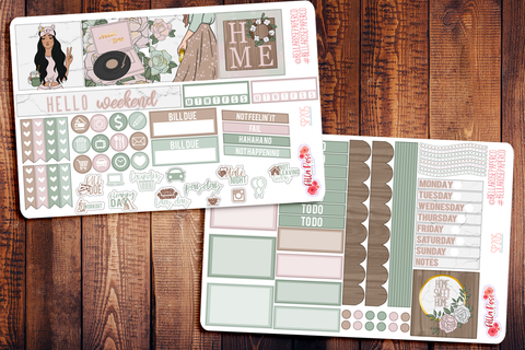 Farmhouse Mini Happy Planner Sticker Kit SP205