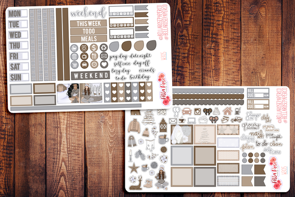 Home For The Holidays Hobonichi Weeks Sticker Kit W306
