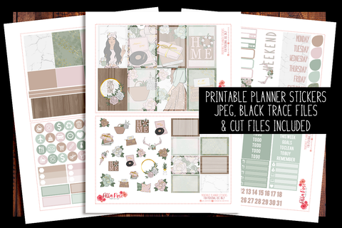 Farmhouse Happy Planner Kit | PRINTABLE PLANNER STICKERS