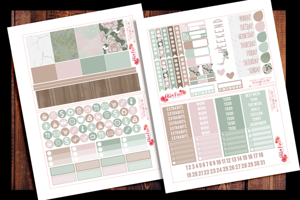 Farmhouse Planner Kit | PRINTABLE PLANNER STICKERS