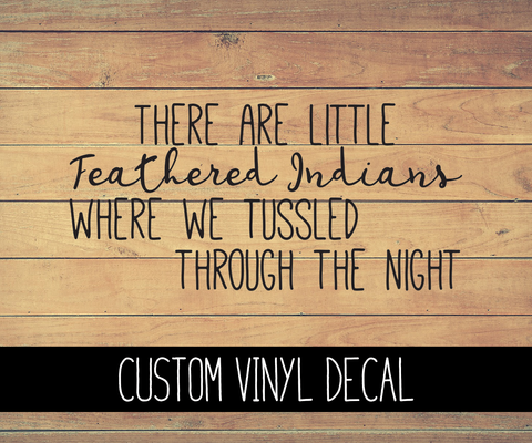 Feathered Indians Vinyl Decal
