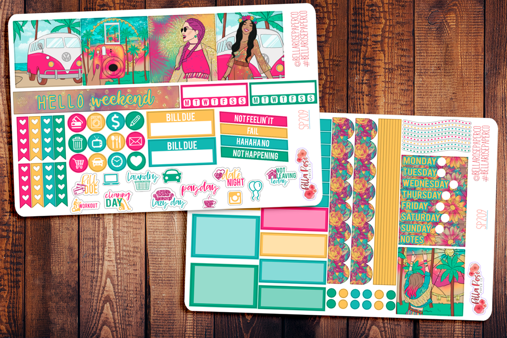 Summer Festival Mini Happy Planner Sticker Kit SP209