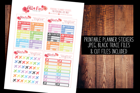 Flight Tracker Planner Stickers | PRINTABLE PLANNER STICKERS