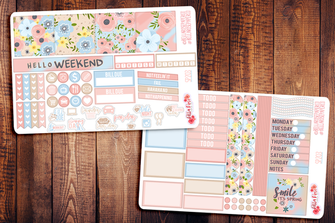 Spring Florals Mini Happy Planner Sticker Kit SP203