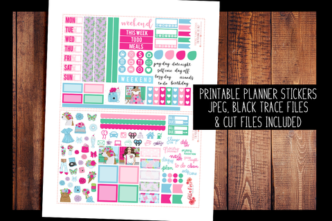 Floral Shop Hobonichi Weeks Kit | PRINTABLE PLANNER STICKERS