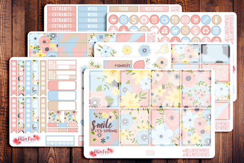 Spring Florals Planner Sticker Kit SP203