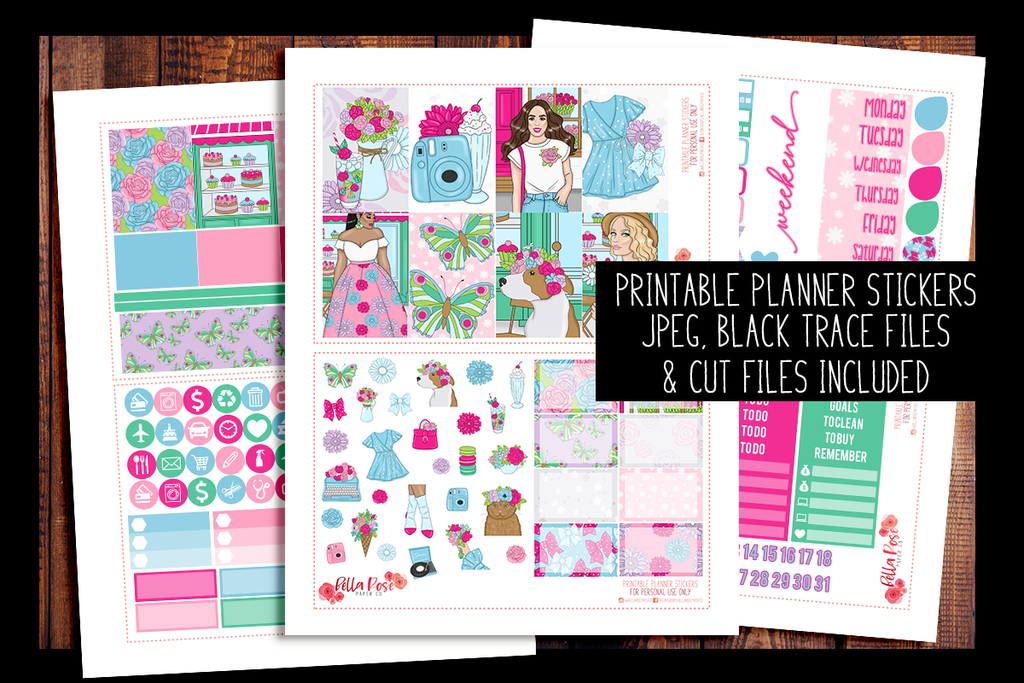 Floral Shop Happy Planner Kit | PRINTABLE PLANNER STICKERS
