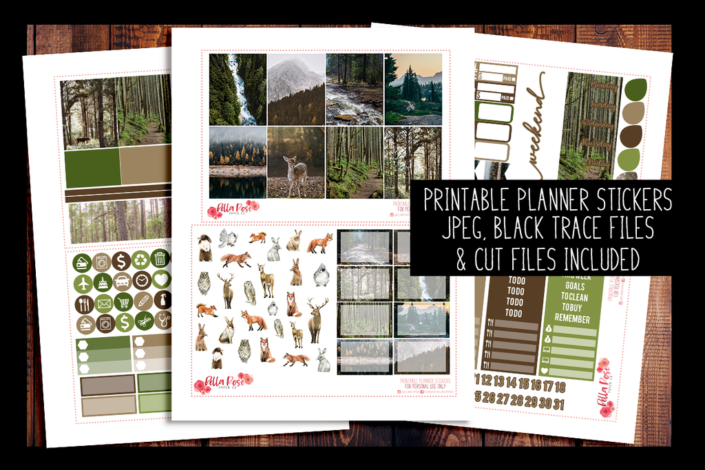 Forest Friends Planner Kit | PRINTABLE PLANNER STICKERS