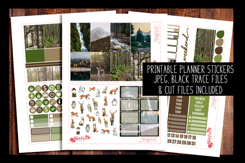 Forest Friends Happy Planner Kit | PRINTABLE PLANNER STICKERS