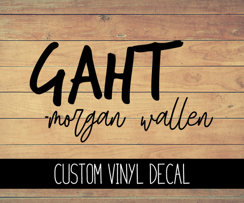 Gaht Morgan Wallen Vinyl Decal