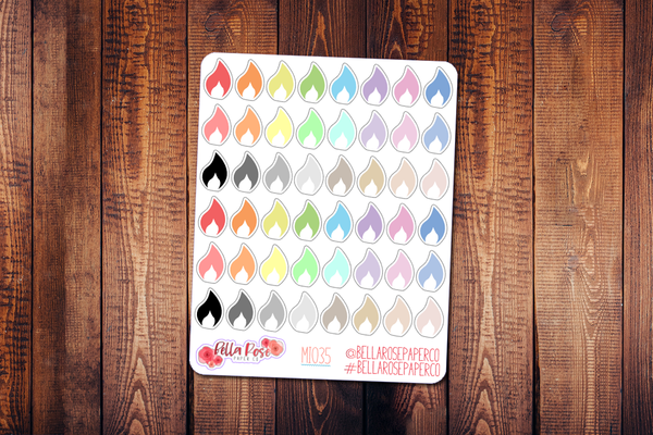 Gas Mini Icon Planner Stickers MI035