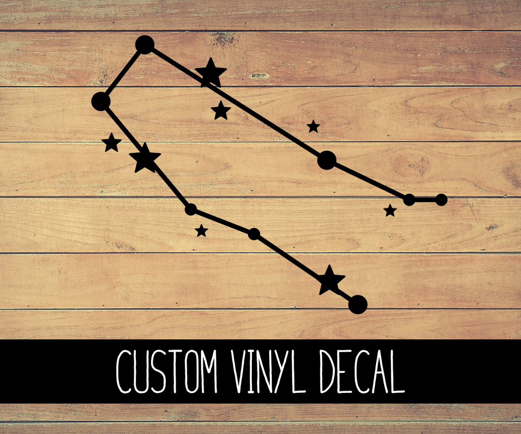 Gemini Zodiac Constellation Vinyl Decal