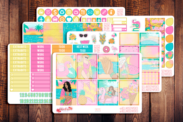 Summer Getaway Planner Sticker Kit SM205