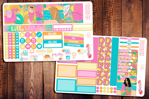 Summer Getaway Mini Happy Planner Sticker Kit SM205