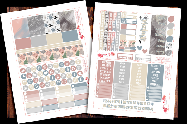 Get Cozy Happy Planner Kit | PRINTABLE PLANNER STICKERS