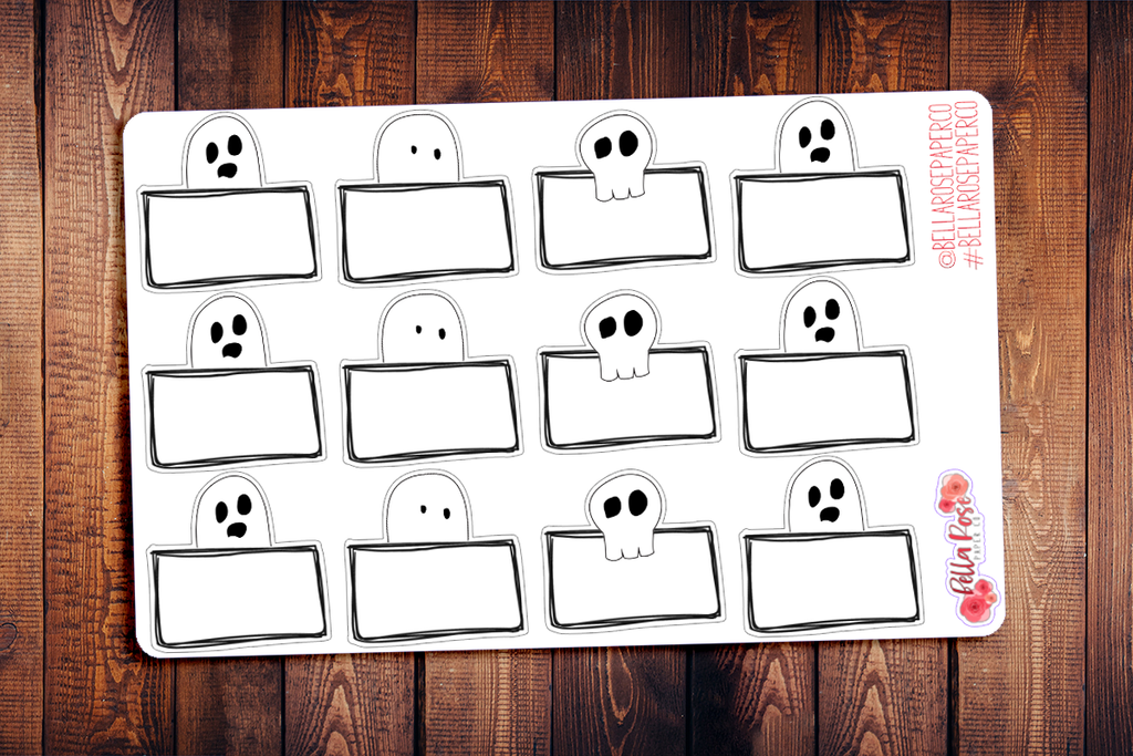Ghost Box Spooky Half Box Planner Stickers F009
