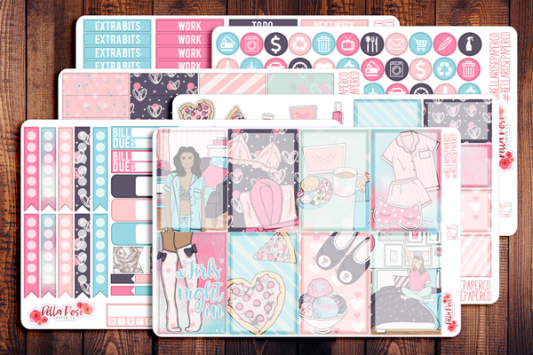 Girls' Night In Planner Sticker Kit W215