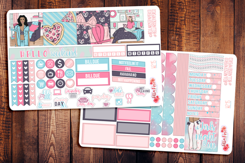 Girls' Night In Mini Happy Planner Sticker Kit W215