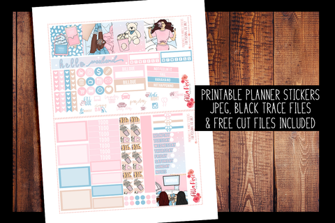 Girls Night Mini Happy Planner Kit | PRINTABLE PLANNER STICKERS