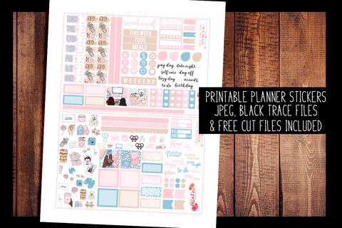 Girls Night Hobonichi Weeks Kit | PRINTABLE PLANNER STICKERS
