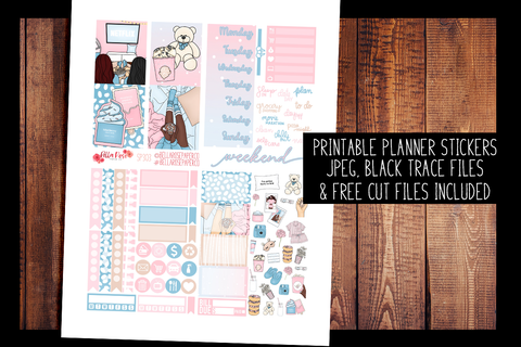 Girls Night Mini Planner Kit | PRINTABLE PLANNER STICKERS